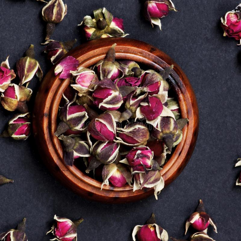 Rose Flowers Tea stock images