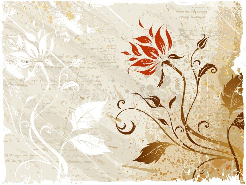 Rose. Fond floral grunge illustration de vecteur