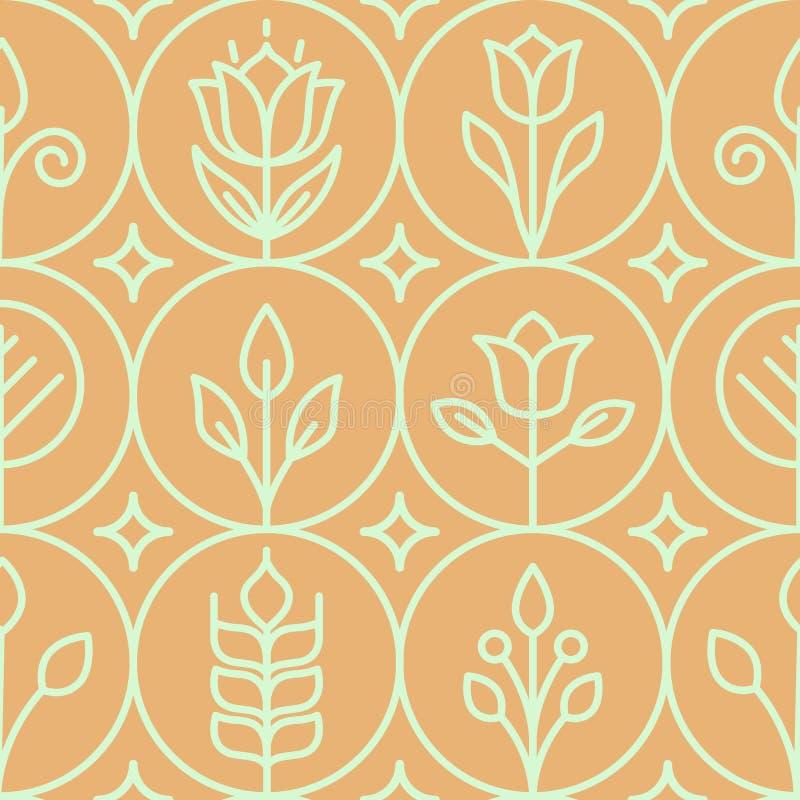 Rose fond texturisé sans couture formé rétro par fleur illustration stock
