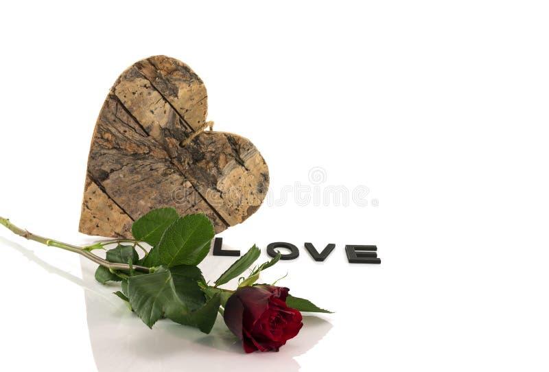 rose form för hjärtared royaltyfri fotografi