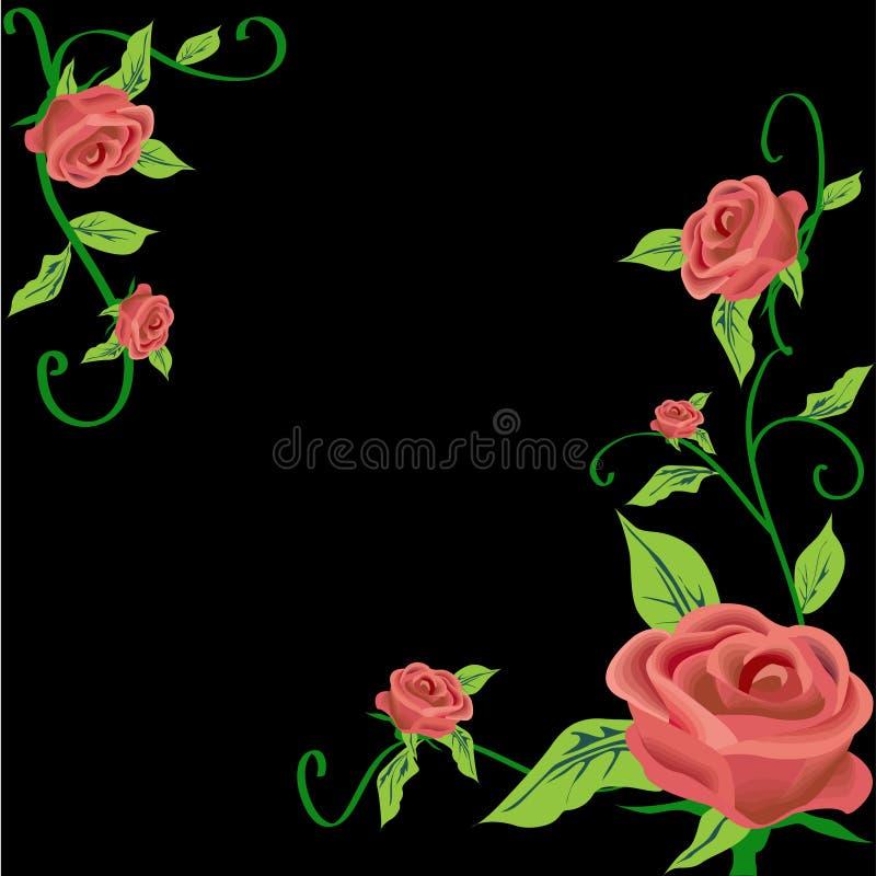 Rose frame royalty free illustration