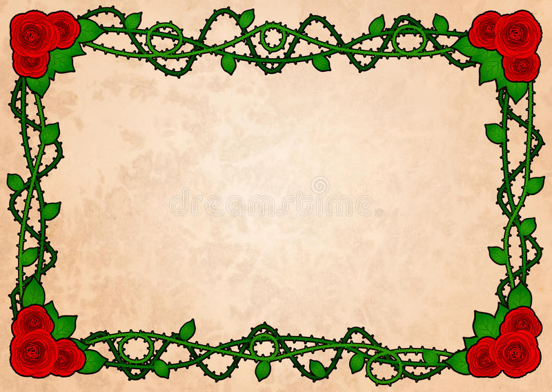 Download Rose frame with spikes stock illustration. Image of grunge - 29869959