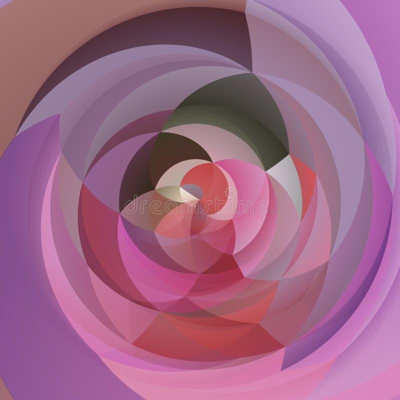Rose géométrique abstrait, lavande pourpre et rouge de fond de remous d'art moderne coloré illustration de vecteur