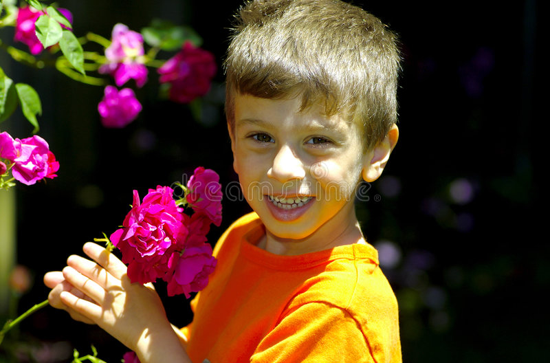 Download In The Rose Garden stock photo. Image of spring, smile - 153848