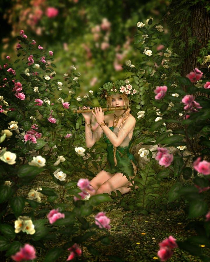 Rose Garden, 3d CG vector illustration