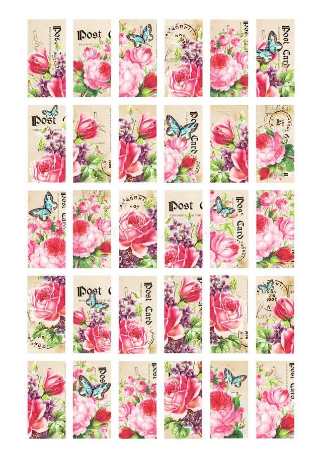 Free Rose Garden Domino Images 1x2 Rectangular Printables Royalty Free Stock Photo - 183107445