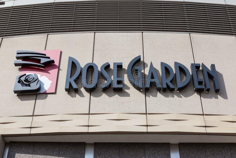 Rose Garden, Portland, Orégon photographie stock libre de droits