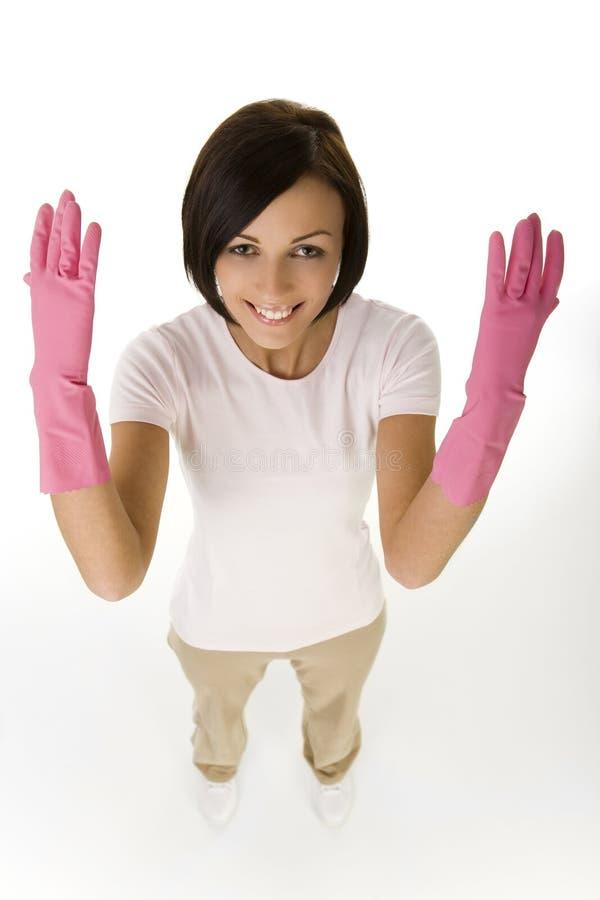 rose gentil de gants photographie stock libre de droits