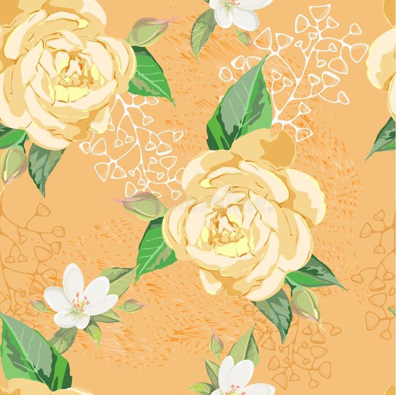 Rose gialle illustrazione di stock