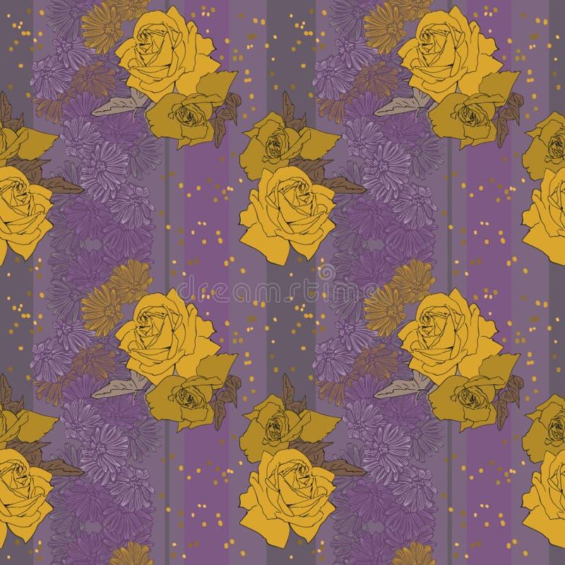 Rose gialle su fondo profondo royalty illustrazione gratis