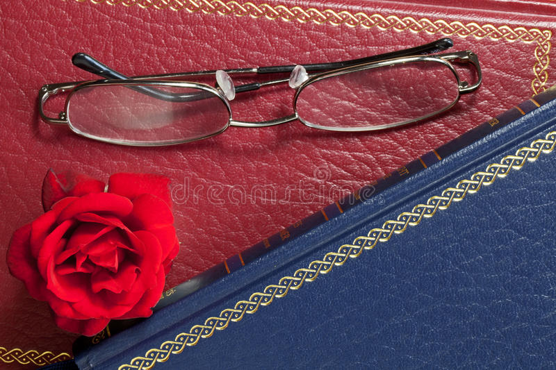 Download Rose and Glasses stock photo. Image of spectacles, reading - 20455536