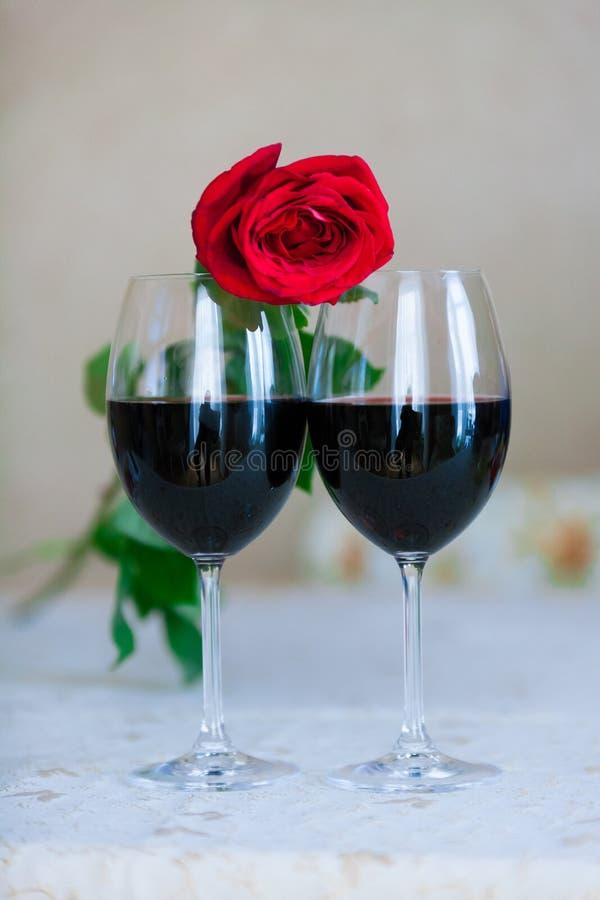 Rose And Glasses royalty-vrije stock foto's