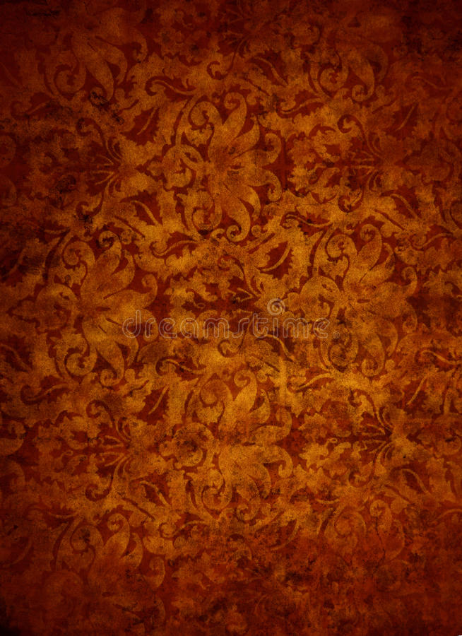 Rose Gold Brocade Leaf Textured Background royalty free stock image