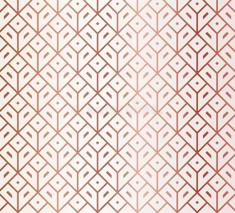 Rose Gold Geometric Pattern libre illustration