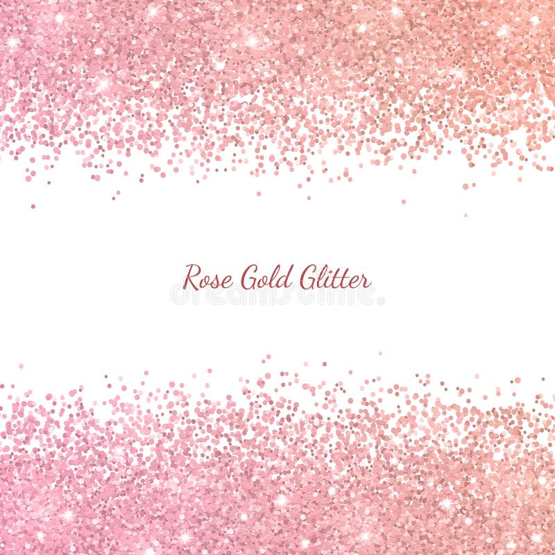 Free Rose Gold Glitter With Color Effect. Vector Stock Image - 112484881