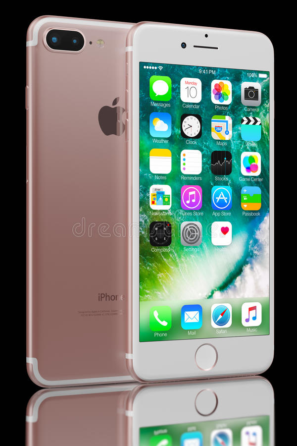 Rose Gold Iphone 7 Plus Editorial Photo Image Of Dual 78274786