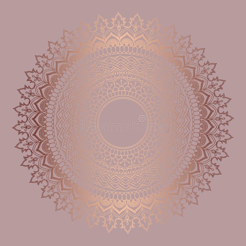 Rose gold mandala background royalty free illustration