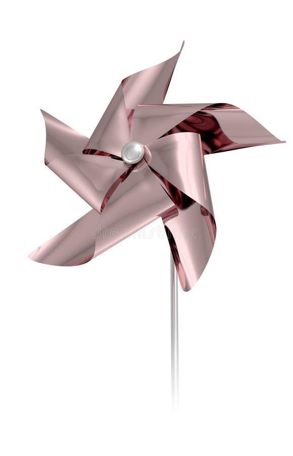 Rose Gold Pinwheel royalty-vrije illustratie