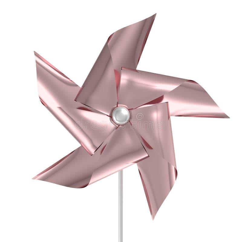 Rose Gold Pinwheel stock illustratie