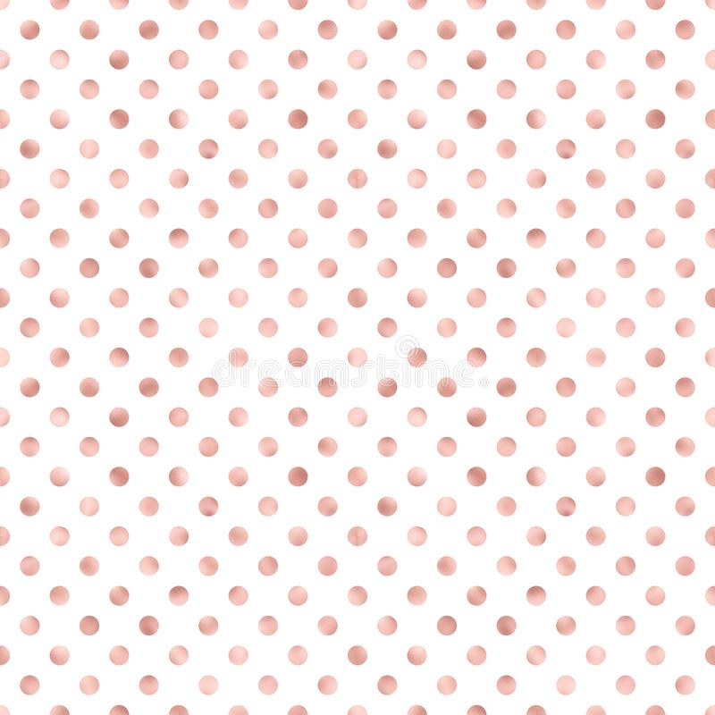 Rose Gold Polka Dot Pattern Large Rose Gold Polka Dot