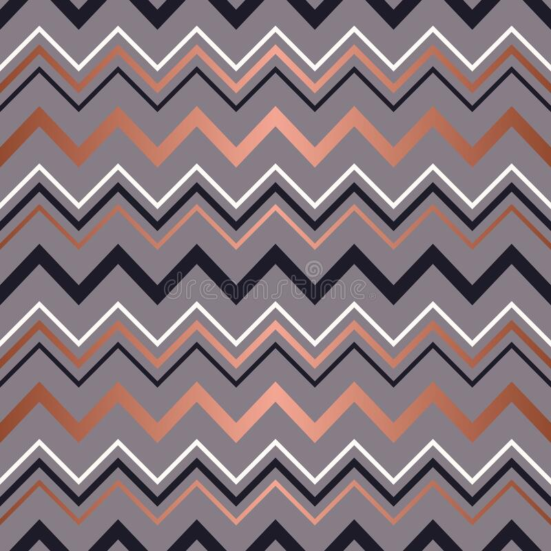 Free Rose Gold Seamless Pattern. Background Stripe Chevron. Elegant Zigzag Lines. Repeating Delicate Chevrons Striped Texture For Desig Royalty Free Stock Photography - 192482877