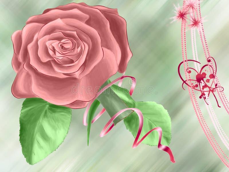 Rose greetings stock photo
