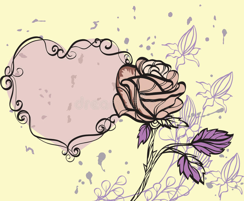 Download Rose on grunge background stock vector. Illustration of concepts - 17534623