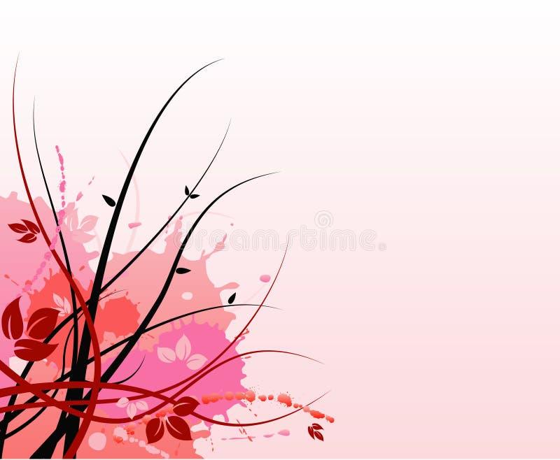 rose grunge floral de fond illustration libre de droits