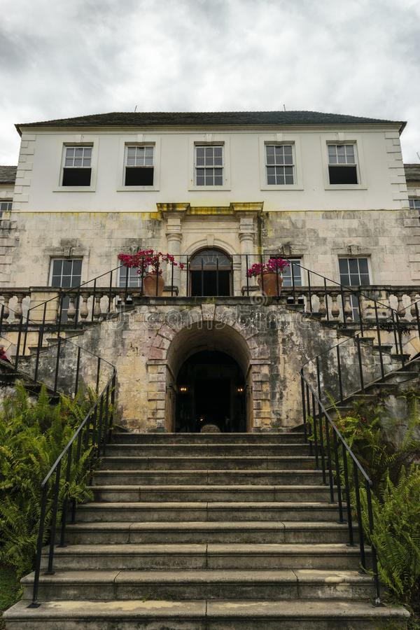 The Rose Hall Great House in Montego Bay, Jamaica. Popular tourist attraction. royalty free stock photos