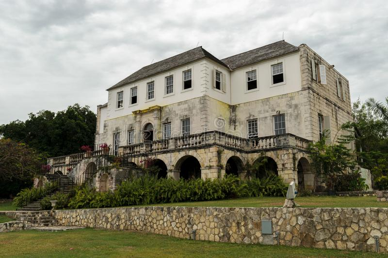 The Rose Hall Great House in Montego Bay, Jamaica. Popular tourist attraction. stock photos