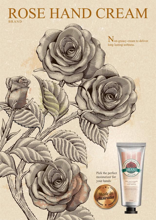 Free Rose Hand Cream Ads Royalty Free Stock Images - 110498529
