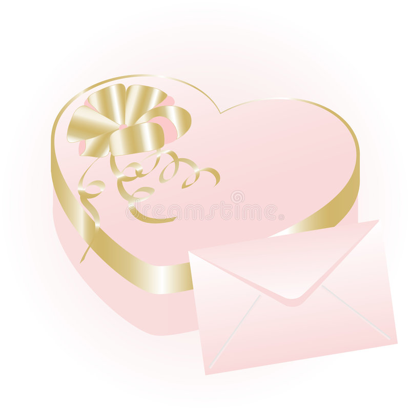 Download Rose Heart Gift Box Stock Image - Image: 7276801