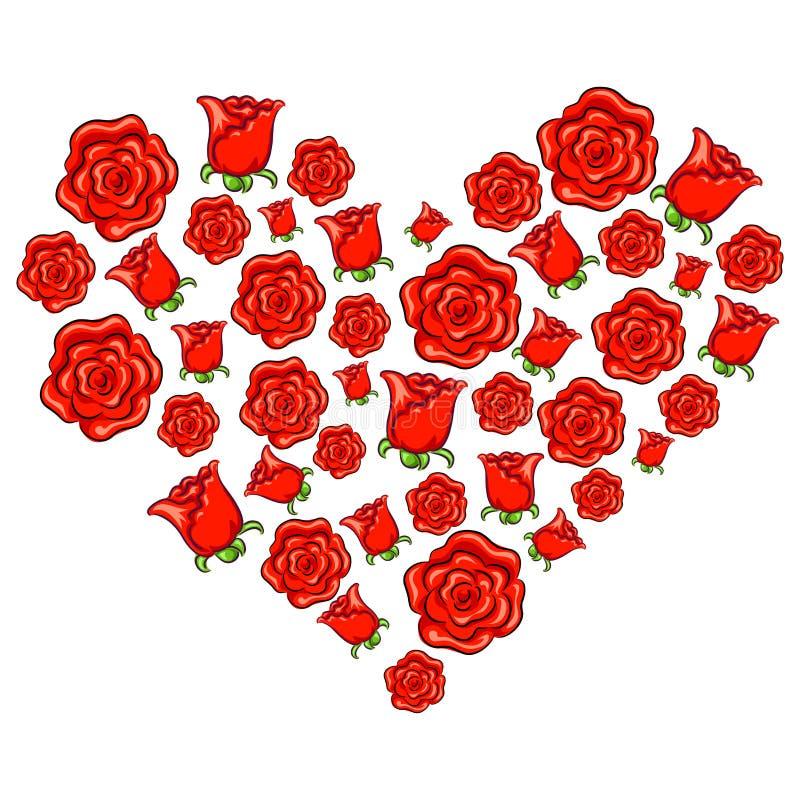 Rose Heart Shape vektor illustrationer