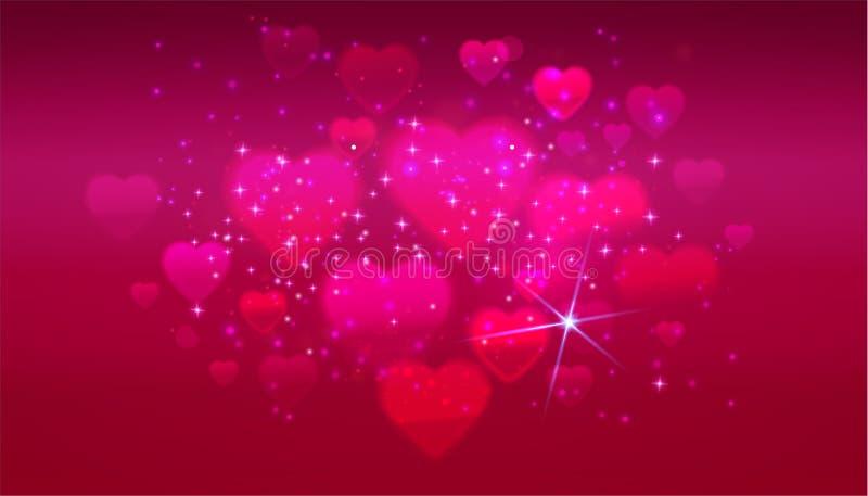 Rose hearts banner royalty free illustration