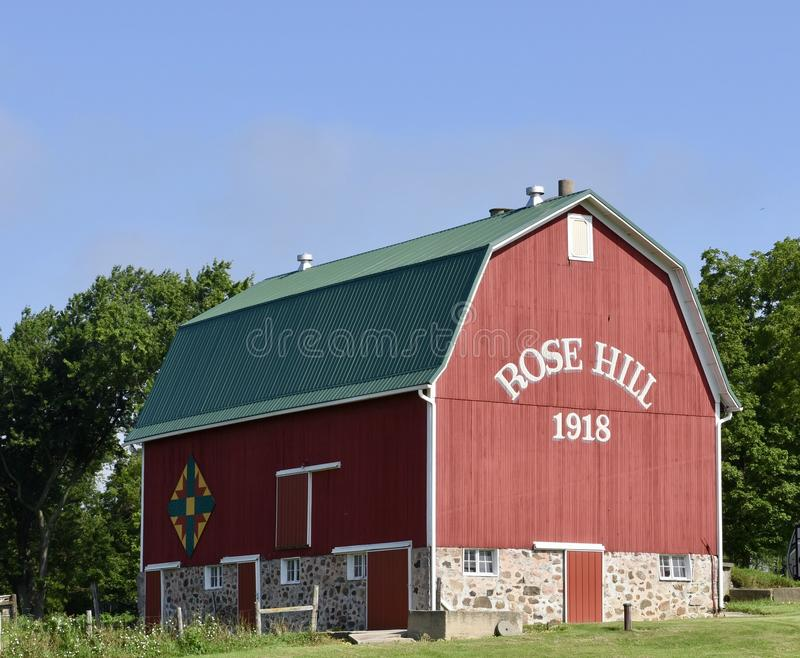 Rose Hill Barn fotografering för bildbyråer