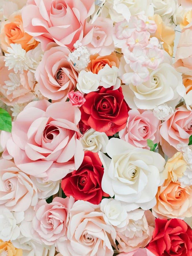 Rose hizo del papel fotografía de archivo libre de regalías