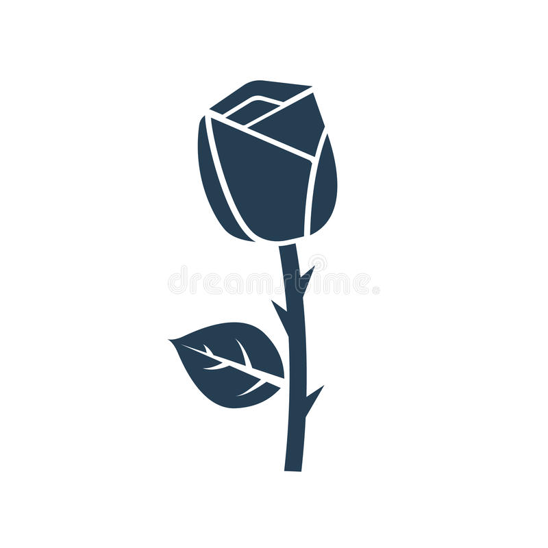 Rose icon vector royalty free illustration