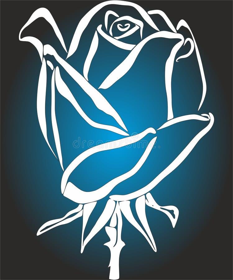 Rose Icons para apps móveis do conceito e da Web ilustração royalty free