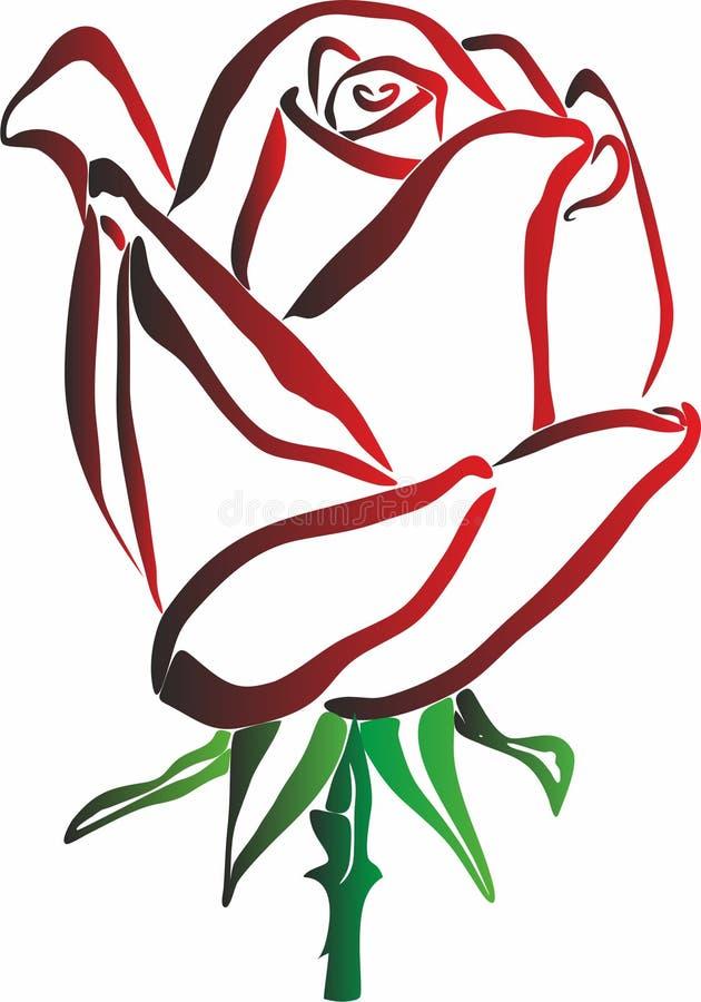 Rose Icons para apps móveis do conceito e da Web ilustração do vetor