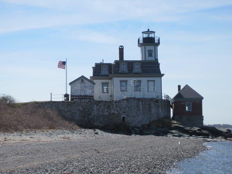 Rose Island Lighthouse imagens de stock