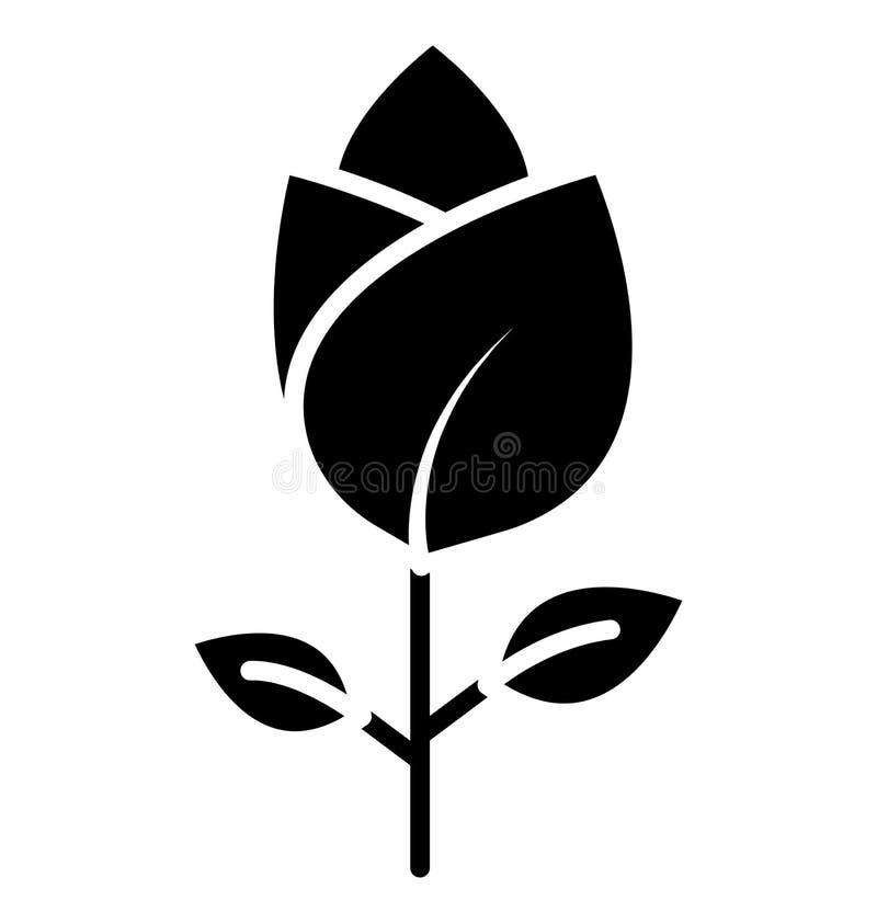 Rose Isolated Vector Icon som kan lätt ändras eller redigera i någon stil Rose Isolated Vector Icon, som kan lätt ändras royaltyfri illustrationer