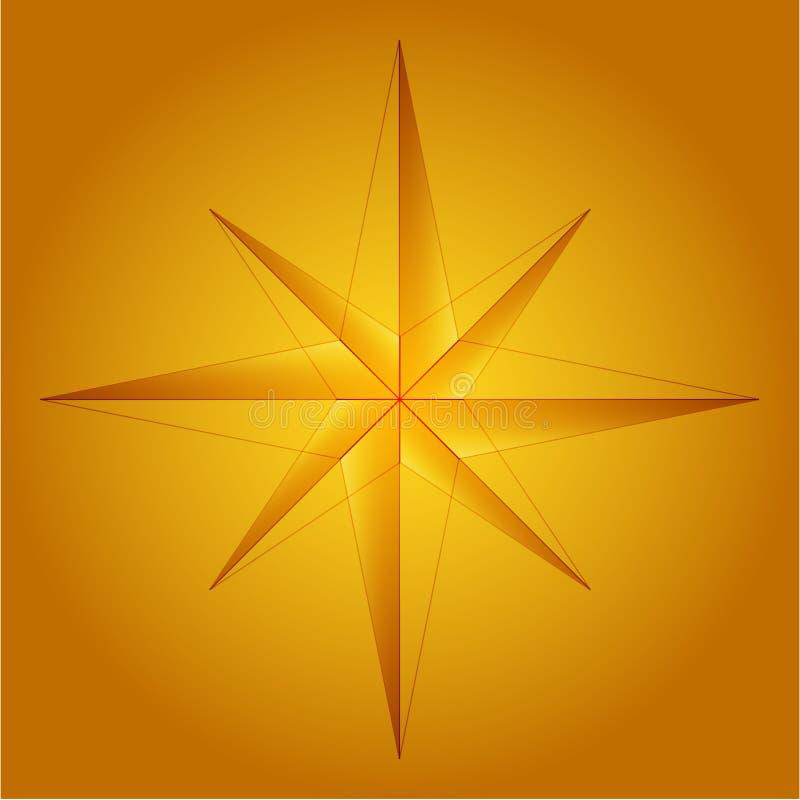 Download Rose kompas. ilustracja wektor. Obraz złożonej z yellow - 2126915