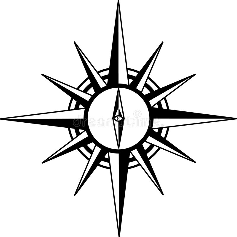 rose kompas. royalty ilustracja