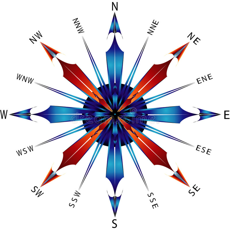 rose kompas. ilustracji