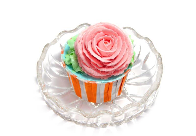 Rose koppcake arkivbilder