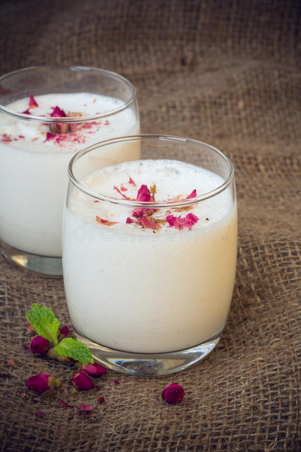 Rose Lassie, India. Rose lassie is a sweet drink from india stock photos