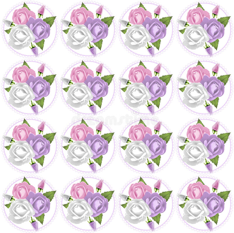 Rose, Lavendar et Rose Background rose illustration de vecteur