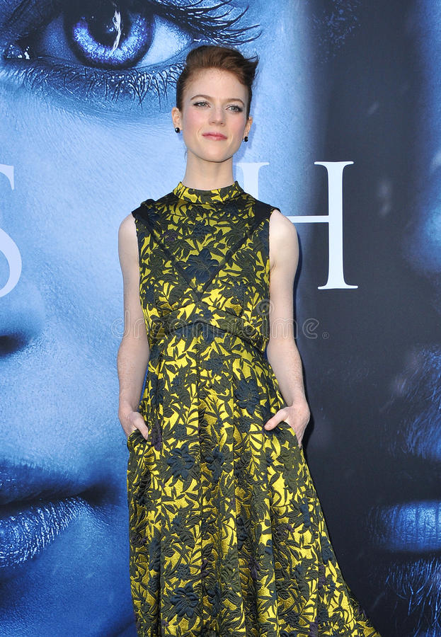 Rose Leslie. At the HBO`s `Game Of Thrones` Season 7 premiere held at the Walt Disney Concert Hall in Los Angeles, USA on July 12, 2017 royalty free stock photography