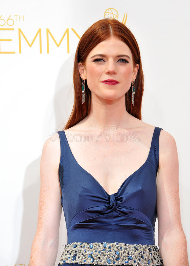 Rose Leslie. LOS ANGELES, CA - AUGUST 25, 2014: Rose Leslie at the 66th Primetime Emmy Awards at the Nokia Theatre L.A. Live downtown Los Angeles royalty free stock photo