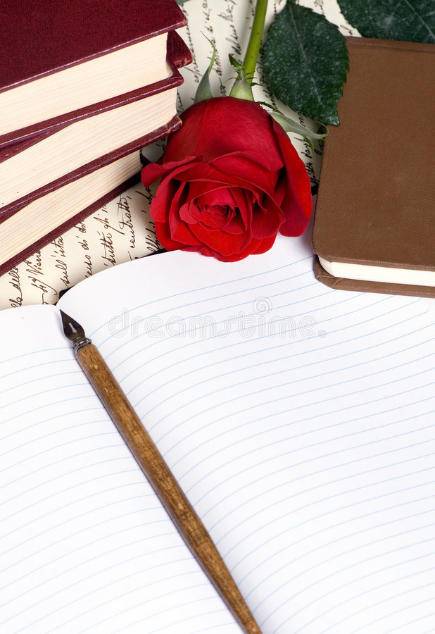 Rose Letter royalty free stock image